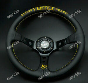 320mm Vertex Leather Sport Car Steering Wheel Deep Dish Omp Momo Rally Racing