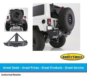 Smittybilt Xrc Rear Bumper Tire Carrier Combo For Jeep Jk Wrangler