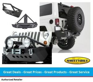 Smittybilt Xrc Front Rear Bumper With Tire Carrier Combo For Jeep Jk Wrangler