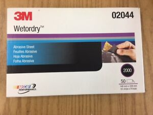 3m 02044 2000 Grit Wet Or Dry Black Sandpaper 5 5 x 9 Sanding 2044