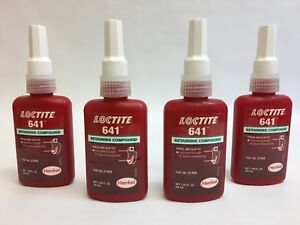 Lot Of 4 Loctite 641 Retaining Compound Adhesive 50ml 21458
