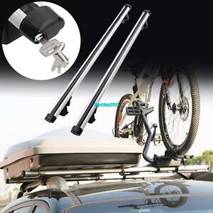 Universal Aluminum Car Top Cross Bar Crossbar Roof Rack Pair For Cargo Luggage