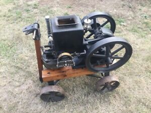 Stover Model K 1 1 2 Hp Tulip Top Hit Miss Gas Engine good Engine Needs Work