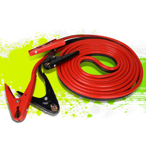 20ft 2 Gauge Booster Jumper Cable Emergency Car Battery Start Heavy Duty 600amp