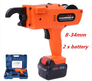 8 34mm Rechargeable Auto Rebar Steel Wire Tier Rebar Tying Machine Strapping