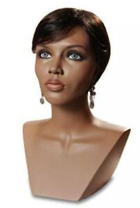 Black Mannequin Head Female Wig Display Heads From Vaudevillemannequins com
