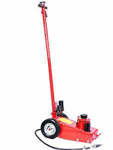 Heavy Duty 35 Ton Hydraulic Floor Jack Wheel s Lift Truck Bus Shop Equipment