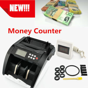 Money Bill Counter Machine Cash Counting Counterfeit Accurate Uv Mg Bank Checker