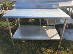48 Heavy Duty Commercial Prep Work Stainless Steel Table With Bottom Shelf Nsf