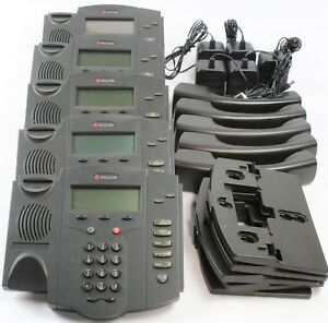Polycom Soundpoint Ip 301 Display Phone lot Of 5