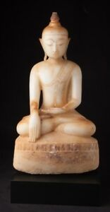 17th Century Antique Burmese Alabaster Buddha Statue From Burma