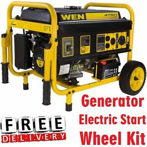 Portable Generator 4750w Camping Electric Start And Wheel Kit Carb Compliant