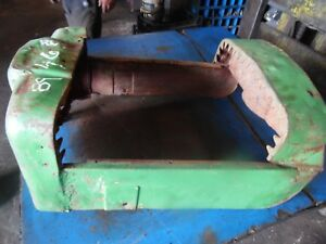 1957 John Deere 420 Gas Crawler Tractor Grill rough But Solid