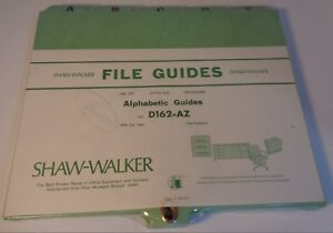 Vintage Shaw Walker File Guides D12 az Alphabetical Guides New Old Stock Usa
