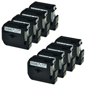 8pk Black On Clear 9mm Tape For Brother P touch Pt 70sp Mk121 M k121 Label Maker