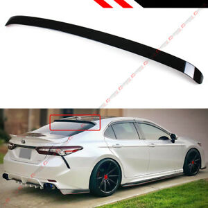 For 18 2021 Toyota Camry 8th Gen Sedan Vip Glossy Black Rear Window Roof Spoiler