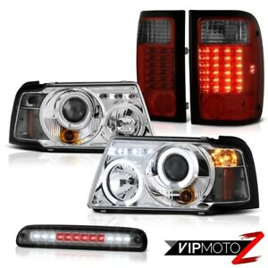 Projector Brightest Led Tail Lights Smoke Third Brake 2001 2011 Ford Ranger Fx4