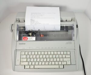brother Model Gx 6750 Correctronic Portable Electronic Typewriter works