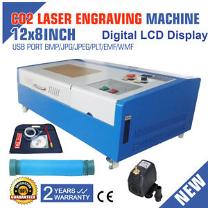 40w Digital Lcd Display Co2 Usb Laser Engraving Cutting Engraver Cutter 300x200
