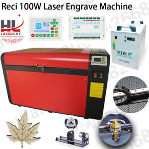 New 1060 Reci 100w Co2 Laser Cutting Machine Ruida System Linear Guide Eu Ship
