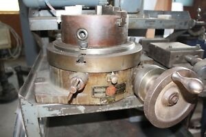 Rotary Table Troyhe Manufacturing Co Model R 12 With Three Jaw Chuck Plate