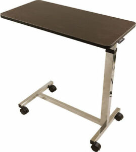 New Roscoe Medical Bedside Overbed Table Rolling Adult Desk Hospital Bed Tray