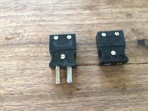 new Tempco Black Thermocouple Type J Plug And Connector