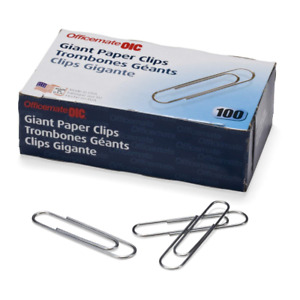 Officemate Giant Paper Clips Pack Of 10 Boxes Of 100 Each 1 000 Total 99914