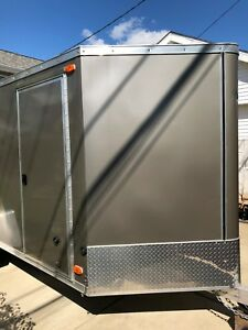 2016 6x12 6 X 12 R r V nosed Enclosed Cargo Trailer Ramp Side Door