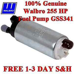 Walbro Genuine In tank Electric Fuel Pump 255lph Gss341