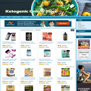 Ketogenic Diet Store Online Business Website For Sale Google Amazon Affiliate