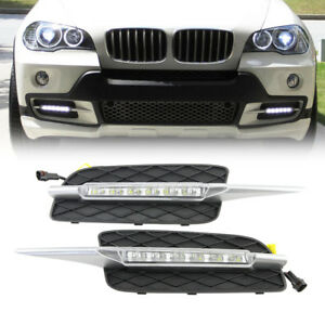 For Bmw 2007 2010 X5 E70 Led Drl Daytime Running Light Driving Lamp By Dhl
