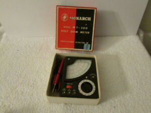 Vintage Monarch Mt 200 Volt Ohm Meter