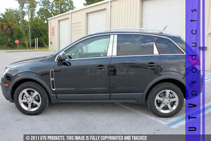 Gtg 2012 2015 Chevy Captiva 6pc Chrome Stainless Steel Pillars Posts