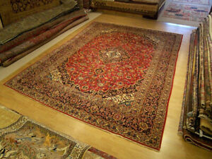 9 8 X 13 4 Hand Knotted Handmade Antique 1940s Persian Oriental Rug Soft Wool
