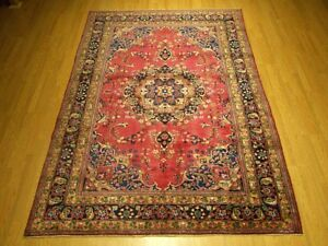 Vintage 6 5 X 9 9 Handmade 1930s Antique Persian Oriental Vegetable Dye Wool Rug