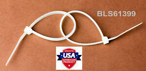 400 Usa Made Tough Ties 15 Inch 120lb Nylon Tie Wraps Wire Cable Zip Ties White