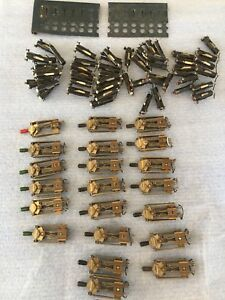 Lot Of 21 Vintage Leaf Toggle Switches Red White Lights Mounting Panels