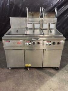 Frymaster Fm245eblsc Filter Magic Ii 2 Bank Fryer W Dump Station