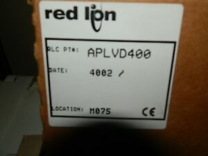 Red Lion Controls Panel Meter Aplvd400 4 digit Dc Volts New In Box