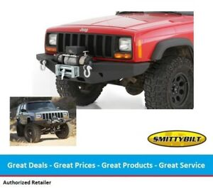 Smittybilt Xrc Rock Crawler Winch Front Bumper For Jeep Cherokee Xj