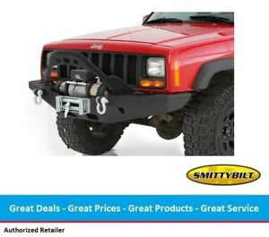 Smittybilt Xrc Rock Crawler Winch Front Bumper W Stinger For Jeep Cherokee Xj
