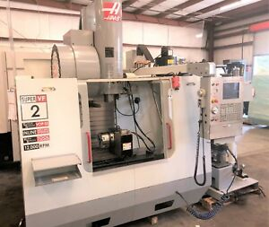 Haas Vf2ss With Probe Hrt210 4th Axis Prep And Thru Spindle Coolant