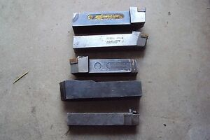 Used Industrial Size Lathe Tool Holders Etc