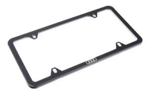 New Oem Audi Black License Plate Slimline Frame With Spacers Covers Zaw071801c
