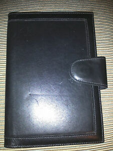 The French Company Black Leather Organizer Address Notebook