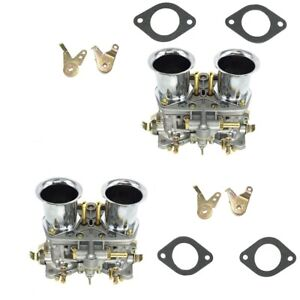 2 X New 44idf Carburetors With Air Horn For Volkswagen Super Beetle Transporter