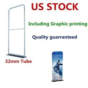 2ft X 7 5ft 32mm Aluminum Tube Exhibition Booth Tension Fabric Display Graphic