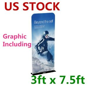 Usa 3ft 32mm Aluminum Tube Exhibition Booth Tension Fabric Display With Graphic