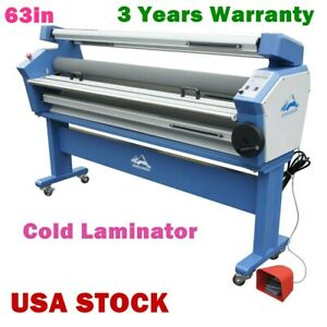 63 Full auto Wide Format Cold Laminator Roll To Roll Laminating Machine